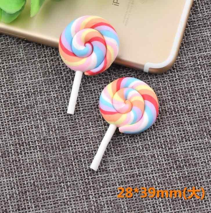 5102050pcs  polymer clay lollipop kawaii miniature cabochon flat back  Decoden  DIY 29mm