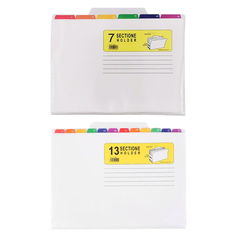 File Holder Classification Bag Color UV Print Folder Waterproof File Good Sorter U1JA