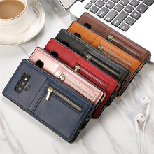 Luxurry Leather Case sFor Samsung Galaxy Note 10 9 Case Cover For Galaxy Note 10 Plus 5G Note 9 Case Zipper Wallet Cover Capa цена и фото