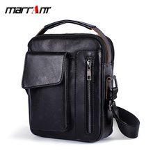 MVA 2019 New Arrival Men's Handbags Vintage Shoulder Bags Leather Casual Messenger Bag Multifunctional Crossbody iPad Bag(China)