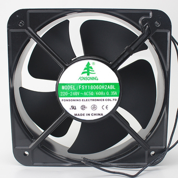 FONSONING FSY18060H2ABL Server Cooling Fan AC 240V 0.35A 180x180x60mm 2-wire