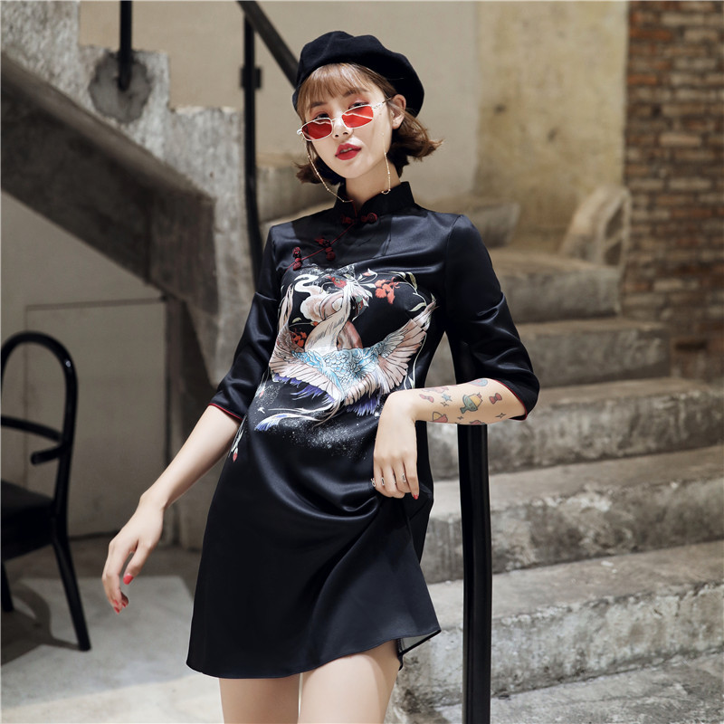 2019 Modern Fashion Shanghai Cheongsam Qipao Dress For Girls