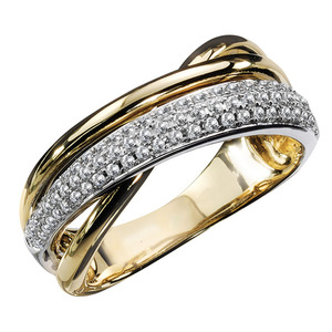 Huitan Hot Selling Cross Rings Bridal Wedding Engagement Party Fashion Jewelry Dazzling Crystal Zircon High Quality Women Rings