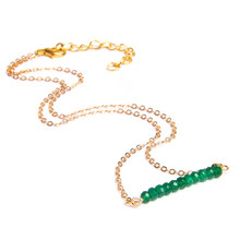Faceted Crystal Gem Pendant Choker Chakra Necklace 2019 Fashion Gold Chain Women Bohemian Necklace Jewelry For Women Chorker gorgeous faux gem square necklace for women
