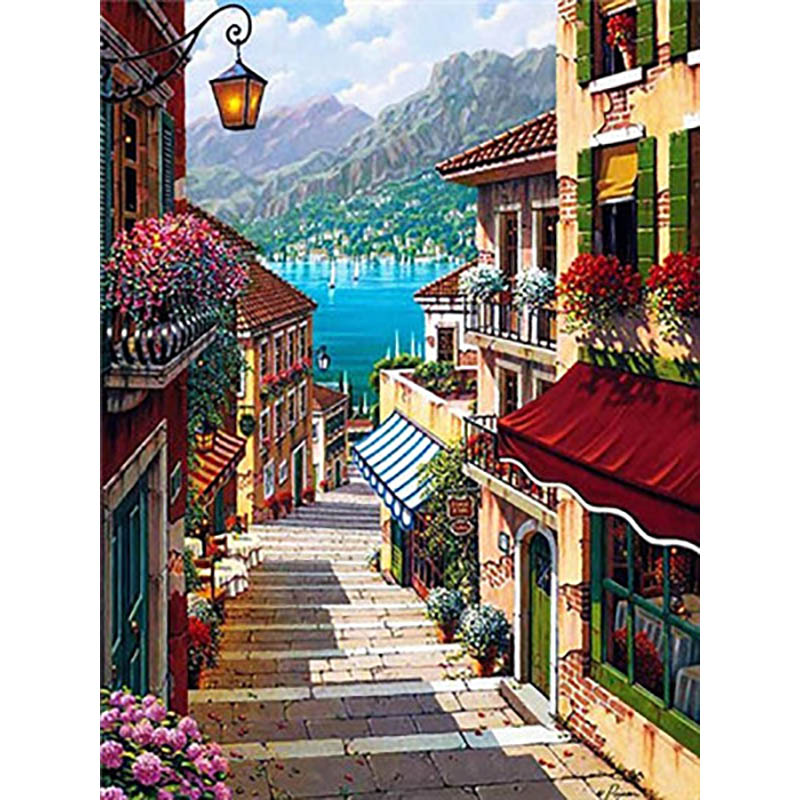 Landscape  Painting By Numbers Paint By Number For Adults DIY Coloring By Numbers Oil Numbered Number Paintings Picture Canvas