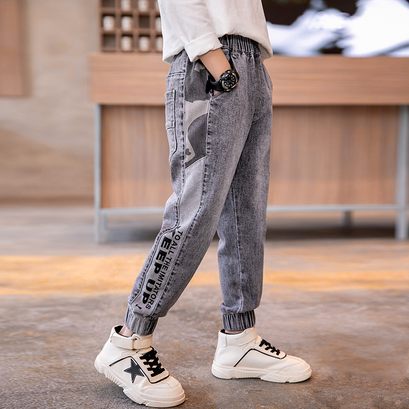 Fashion Kids Boys Jeans Trousers Spring Fall Children Denim Jogger Pants Teenage Cotton Cargo Pant New Arrival Boys Clothes 12Y
