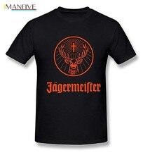 Mens Jagermeister Music Tour Logo T-shirt Short  Casual Cotton t shirt men
