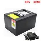 Перезаряжаемый литий ионный аккумулятор 60V 30AH для электрического мотоцикла EV с BMS зарядное устройство