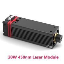 NEJE 20 Вт 450нм модуль лазерной трубки для NEJE MASTER лазерная гравировальная машина для оксида алюминия, гравировки металла, резки древесины