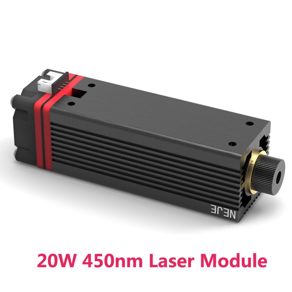 NEJE 20w 450nm Laser Tube Module For NEJE MASTER Laser Engraving Machine For Alumina Oxide Metal Engraving Wood Cutting