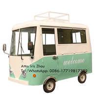 Carrito de venta de helados de comida rápida callejero de 3 m, carro de perros calientes, camiones de comida de EE. UU., carrito móvil de camión eléctrico de alimentos para la venta