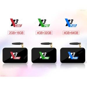 Image 4 - X3プラスtvボックスアンドロイド9.0のスマートtvボックスS905X3 DDR4 ram 4ギガバイト64ギガバイト2.4グラム/5 3g wifi 1000メートルのbluetooth 4.2セットトップボックス4 18k hd
