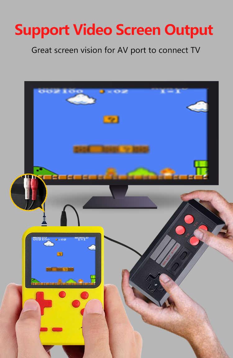 2020 المدمج في 400 الألعاب الكلاسيكية لصبي الطفل الحنين لاعب لعبة فيديو وحدة التحكم 8 بت الرجعية جيب صغير يده لعبة لاعب