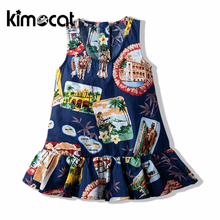 w l monsoon brand children s clothing girls dress europe and america floral children pleated princess dress cotton girl dress Kimocat Girls Clothing  Summer Princess 100% Cotton Dress Beautiful Princess Girl For Round Brought Dress Children Sweet Dress