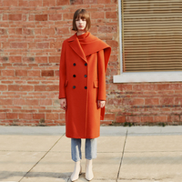 AEL 2019 autumn and winter new products Fashion scarf decorations long loose warm orange woolen coat female