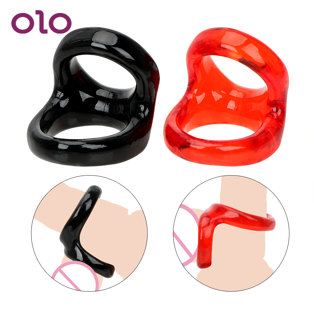 OLO Male Chastity Device <font><b>Penis</b></font> <font><b>Rings</b></font> Delay Ejaculation Cock <font><b>Rings</b></font> Adult Games <font><b>Sex</b></font> <font><b>Toys</b></font> for Men Erotic Adult <font><b>Sex</b></font> Products image
