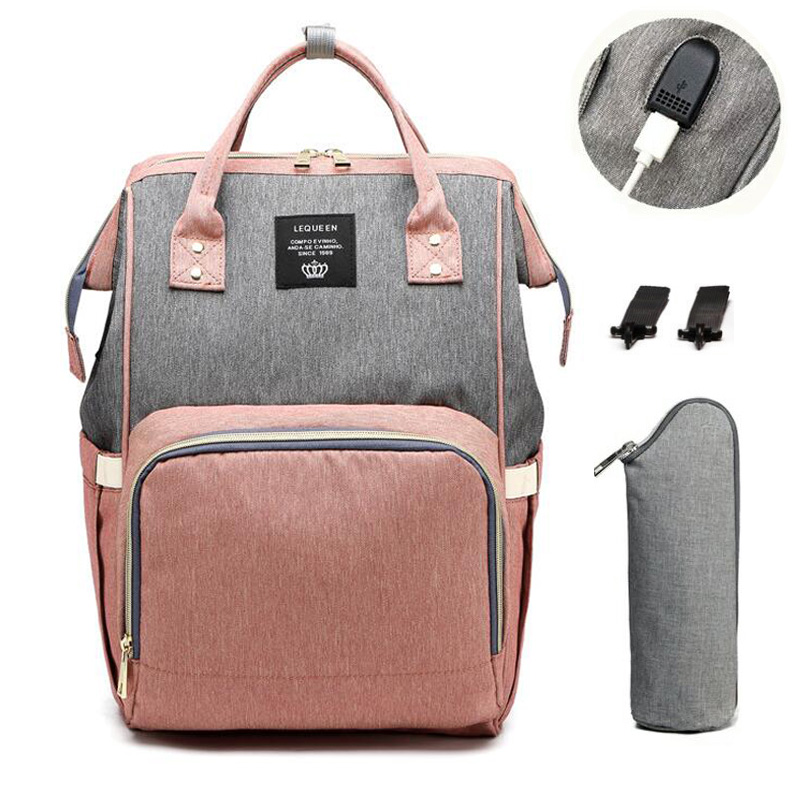 Diaper Bag Multifunction Travel BackPack USB Waterproof Nursing Bag Maternity Stroller Bag Large Capacity Baby Nappy Backpack