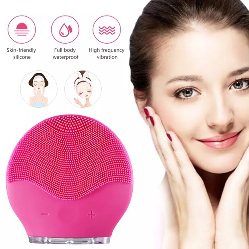 Foreoing Electric Silicone Face Washing Brush Ultrasonic Vibration Pore Cleaner Deep Pore Cleaning Facial Cleansing USB Charge