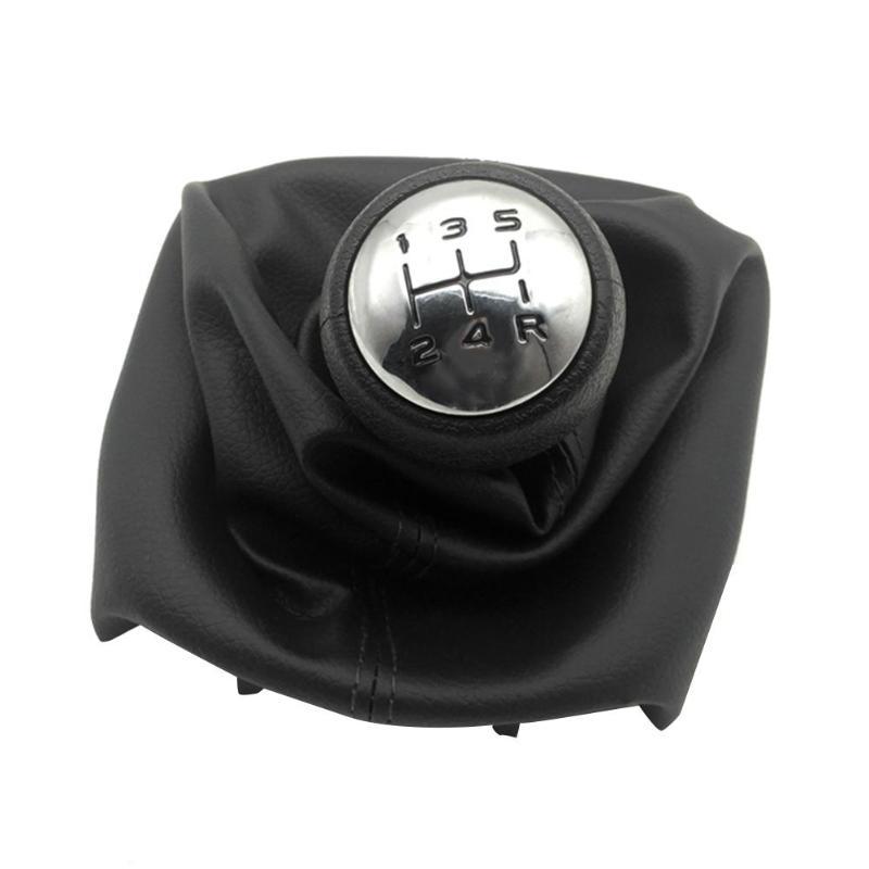 5 Speed Car Gear Shift Konb Stick Gaiter Knob black