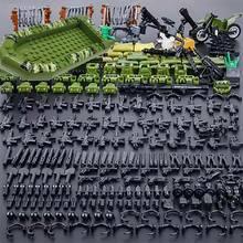 Лего Один солдат спецназ армии Книги об оружии военные фигурки-пистолеты WW2 модель строительные блоки, кирпич LEGO, развивающие игрушки для детей