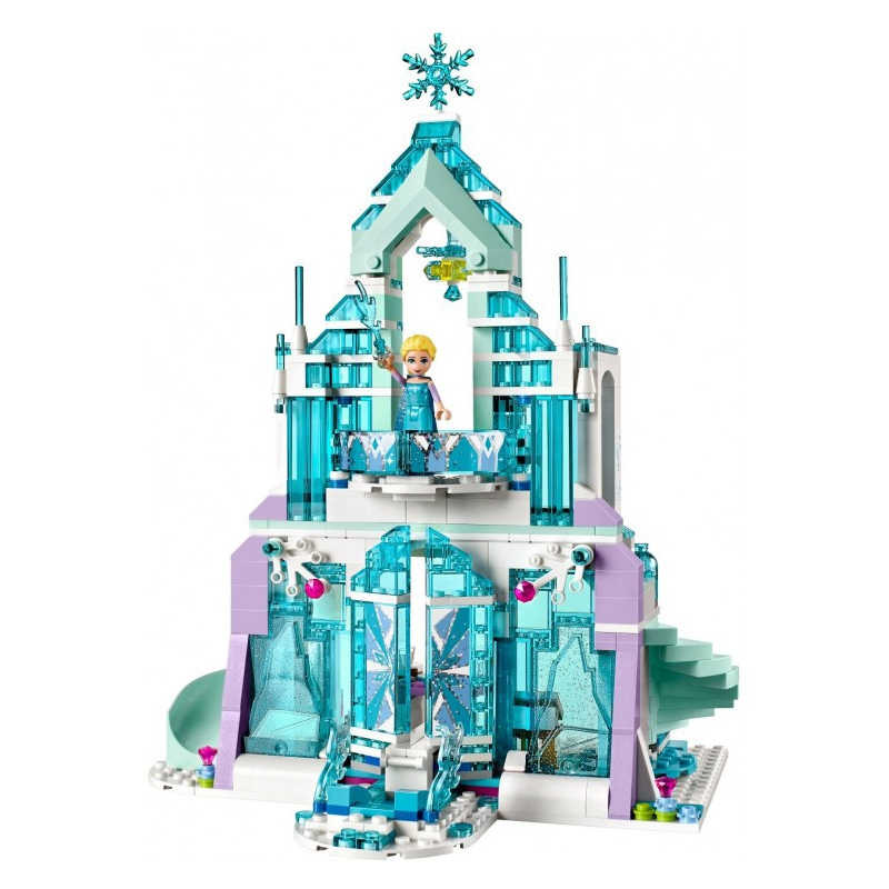 Juego de 2 bloques de construcción de Frozen The Elsa, Castillo de hielo mágico de Disney, princesa Anna, bloques compatibles de juguete de todas las marcas