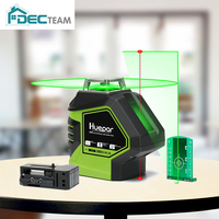 DEC TEAM 360 Degree Green Laser Level with 2 Plumb Dots Point Cross Line Self Leveling Measure Tool 621CG