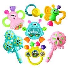 7 pçs conjunto dos desenhos animados do bebê chocalhos chocalhos recém-nascidos música brinquedos para crianças infantis crianças 2019 novo design crianças chocalhos do bebê brinquedos dropship
