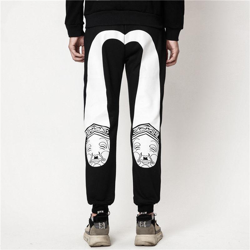 Мужские повседневные брюки Evisu, теплые дышащие брюки из бархата, повседневные брюки для пары, новинка 2020