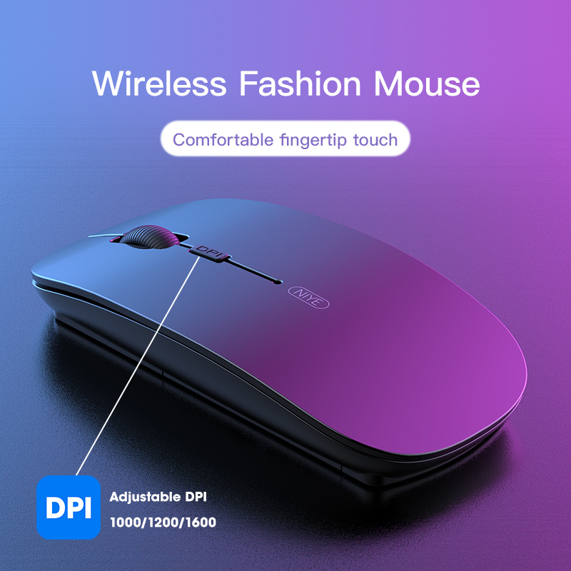 Niye Wireless Mouse Computer Mouse 2.4GHz USB Adapter Home Office Desktop Computer Mice Laptop Wireless Mouse Ergonomic Mouse 2