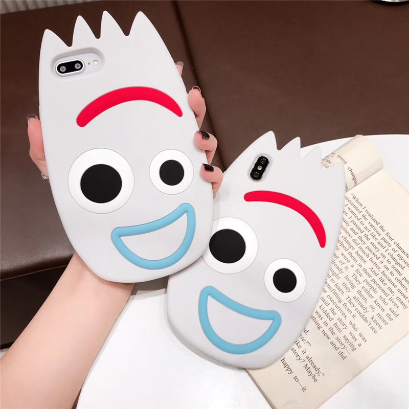Cartoon Forky silicone case for coque <font><b>iphone</b></font> 7 <font><b>toy</b></font> <font><b>story</b></font> cover <font><b>iPhone</b></font> 6 6s 8 7 Plus <font><b>funda</b></font> for <font><b>iPhone</b></font> XR <font><b>XS</b></font> MAX <font><b>X</b></font> soft jelly case image