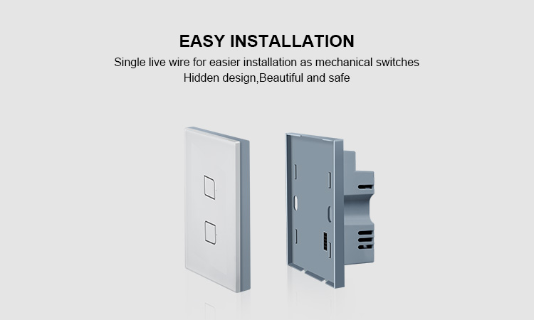 H8737e60762f346bd9b4d221675fc1ea4M - BroadLink Bestcon TC2S  Single Pole RF433 Wireless Remtoe Control Smart Wall Light Touch Switch Works with Alexa Google Home