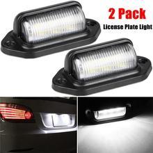 Dragonpad 2Pcs 6 LED License Plate Light 12-24V Waterproof Car Boat Truck Trailer Step Lamp