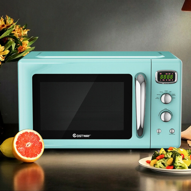 0.9 Cu.ft Microwave Oven Electric Bake Microwave Safe Kitchen Appliances with a Child Lock Function Intelligent Control 1
