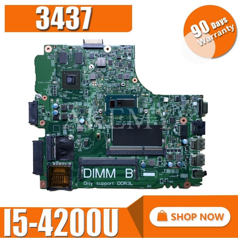 Fabrycznie nowe dla Dell Inspiron 3437 5437 Laptop płyta główna I5-4200U GT720M/2G CN-0YFVC4 12314-1 DOE40-HSW PWB VF0MH REV A00