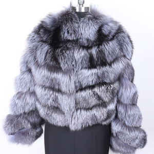 Image 2 - MAO MAO KONG winter real fox fur jacket women  parka natural real fox fur coat  Womens coat Womens fur coat
