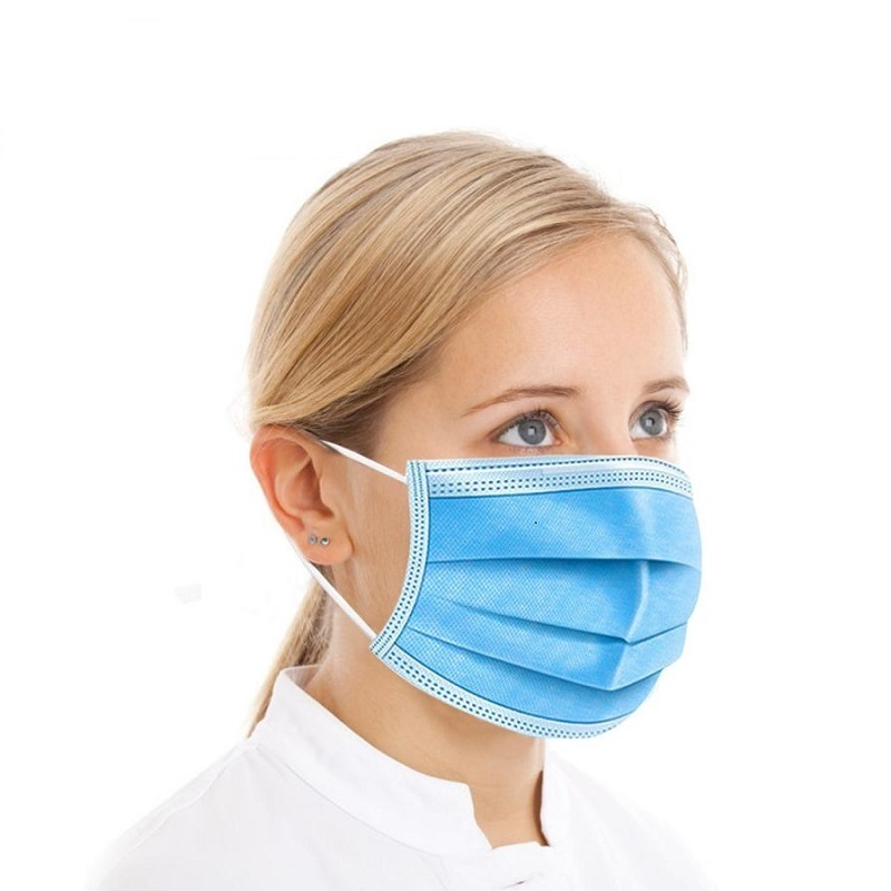 50-200 pièces masque jetable 3 couches masque médical Non-tissé filtre Anti-pollution visage Mascarilla adulte bleu bouche masque 2