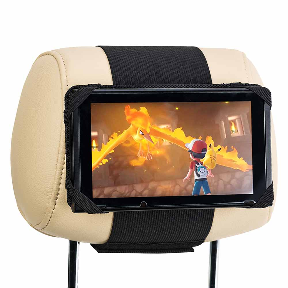 Car Headrest Mount Holder for Nintendo Switch - Black title=