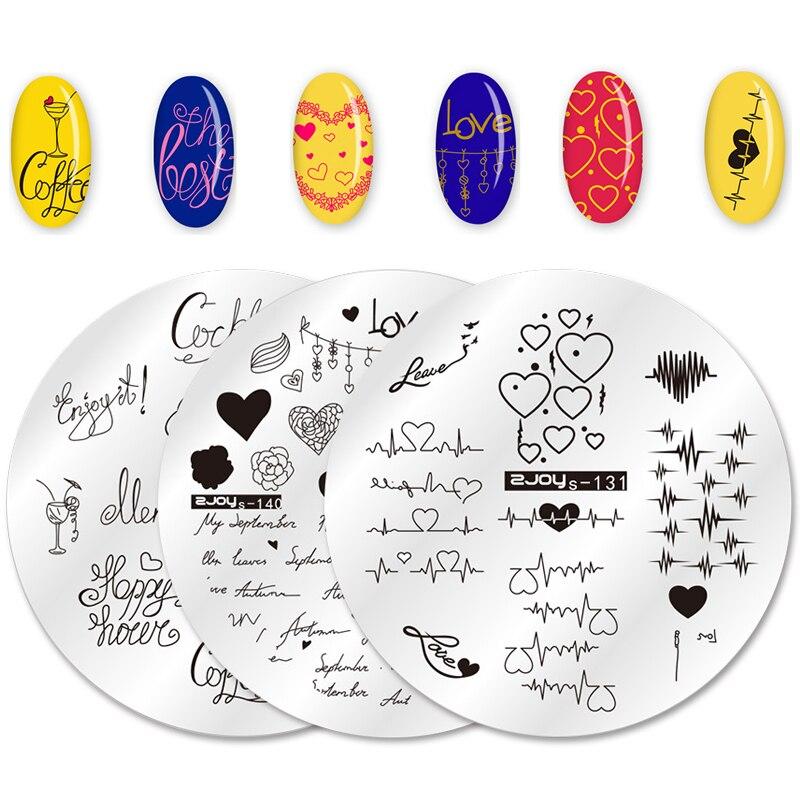 WAKEFULNESS пластины для стемпинга на День святого Валентина, сердце, одна тема любви, трафарет для дизайна ногтей, штамп для дизайна ногтей, шабл...
