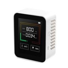 Misuratore di CO2 digitale rilevatore di qualità dell'aria Monitor multifunzione C02 Tester di umidità della temperatura Display LCD con retroilluminazione