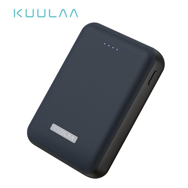 KUULAA Power Bank 10000mAh Portable Charge Pover Bank 10000 MAh Dual USB Mini External Battery Charger For Xiaomi Mi 8 PoverBank
