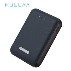 Kuulaa banco de potência 10000 mah portátil carga pover banco 10000 mah dupla usb mi ni carregador de bateria externa para xiao mi 8 poverbank