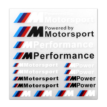 1PCS Car M Performance Power Motorstport sticker For bmw M Sticker X1 X3 X4 X5 X6 X7 e46 e90 f20 e60 e39 f10 f30 Car accessories etie car styling sports mind produced by m performance power sticker