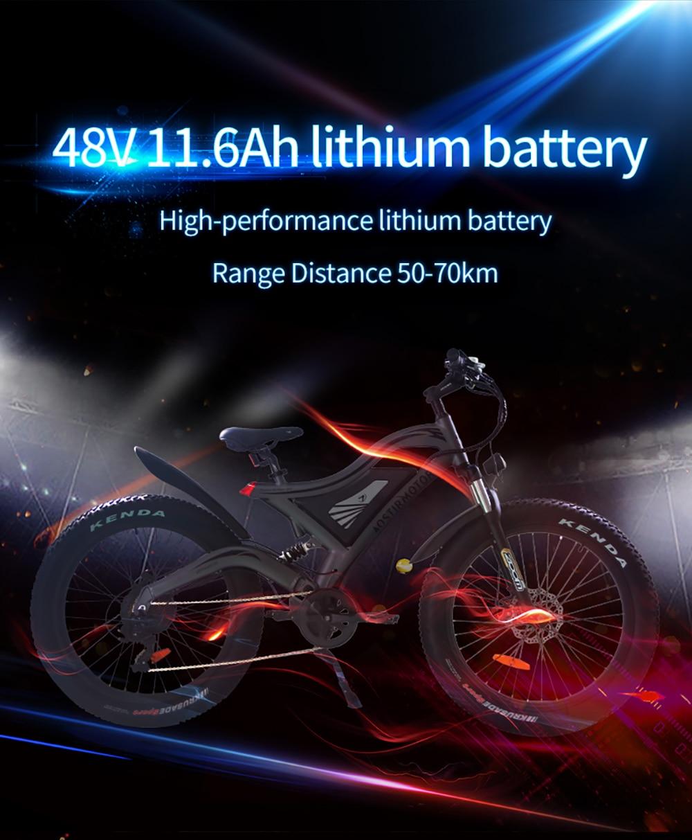 AOSTIRMOTOR elektryczny rower górski 4.0 rower elektryczny na grubych oponach rower Beach Cruiser Booster Bike 750W EBike 48V11.6Ah bateria litowa
