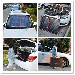Image 4 - 100w 12V גמיש Foldble פנל סולארי חיצוני פנלים סולאריים סטי לקמפינג/סירות/RVHome/שמש סלולרי 18V שמש תשלום פנל