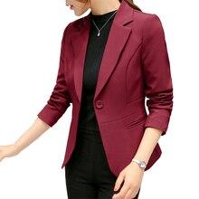 2020 Formal Blazers Black Women Blazer Lady Office Work Suit Pockets Jackets Coat Slim Black Women Blazer Femme Jackets