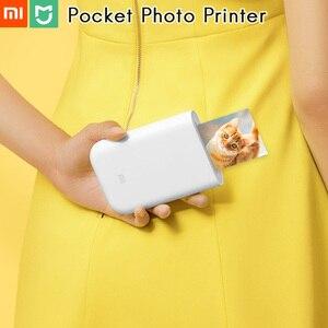 """Image 1 - Originele Xiao mi pocket Photo Printer Mi thuis 3 """"zink geen Inkt Papier Sticker Bluetooth Meerdere Link 15 Tweede AR/Voice Foto"""