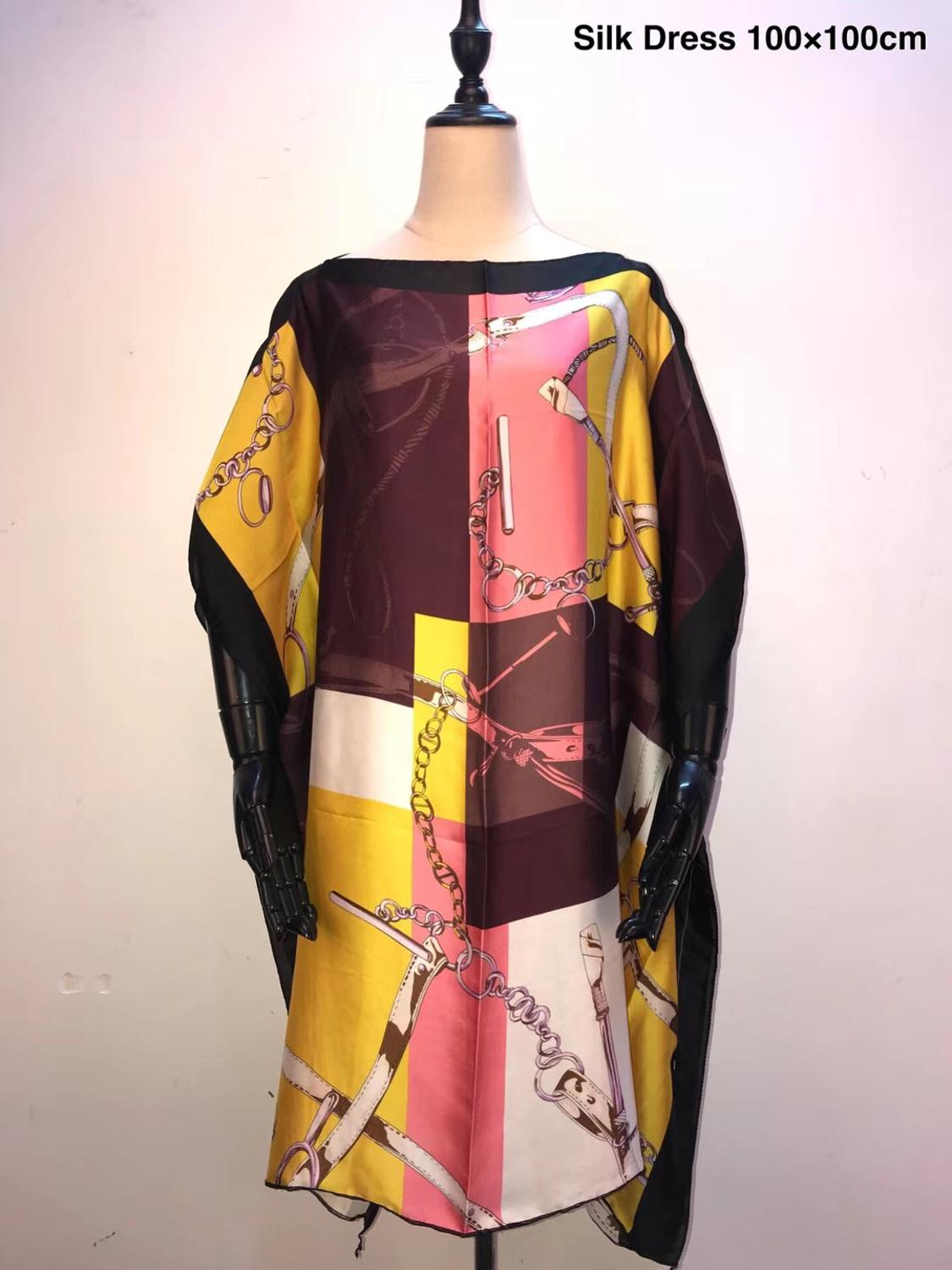 Beautiful  European Printed Silk Kaftan Short Dresses Free Size African Women Dresses African Dresses For Women