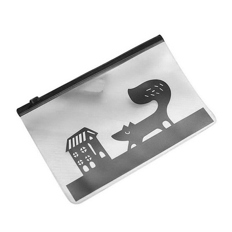 Dichen милый креативный пони Вихрь полупрозрачный матовый файл сумка молния ручка сумка для хранения мелочей