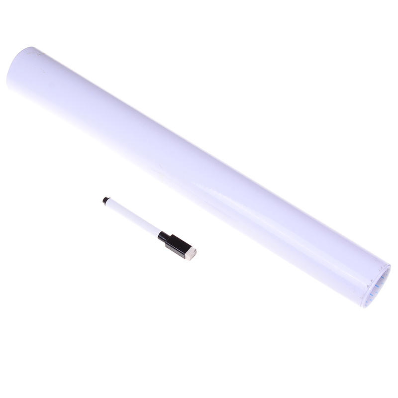 45*100cm White WhiteBoard Wall Paper Sticker Dry Erase Office Vinyl Decor Decal