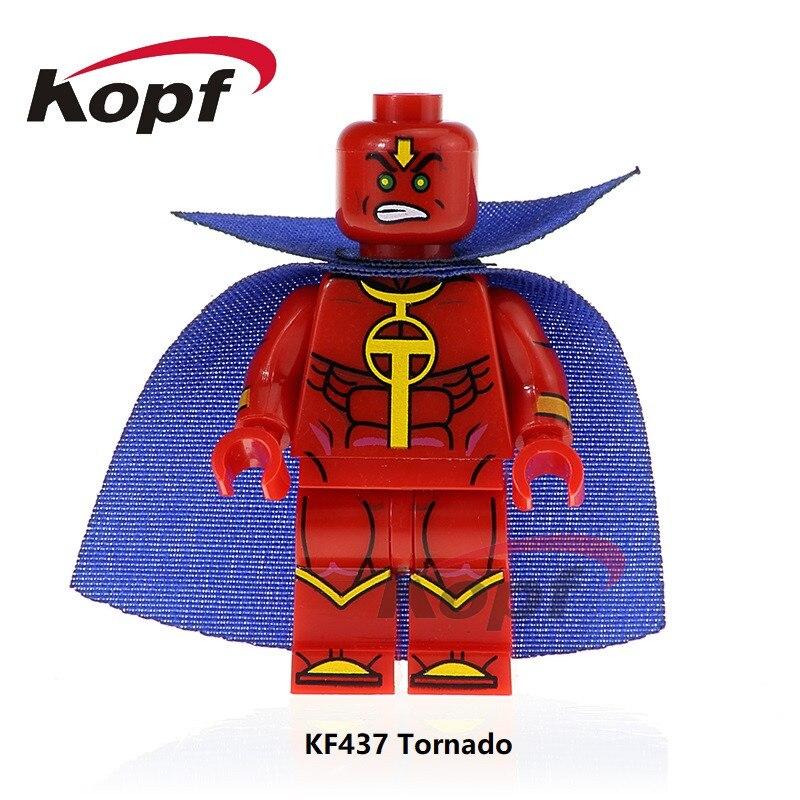Single Sale Super Heroes Tornado Action Technic Figures Wonder Woman Bricks Trickster Model Building Blocks Toys KF437